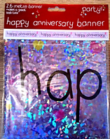 Happy anniversary foil banner (Code 2789)